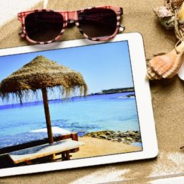 tablet computer and summer stuff