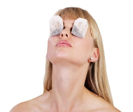 Tea bag eye therapy